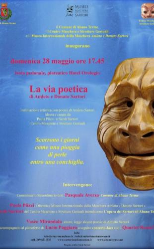 """Domenica 28 maggio 2017 – """"La via poetica di Amleto e Donato Sartori"""""""